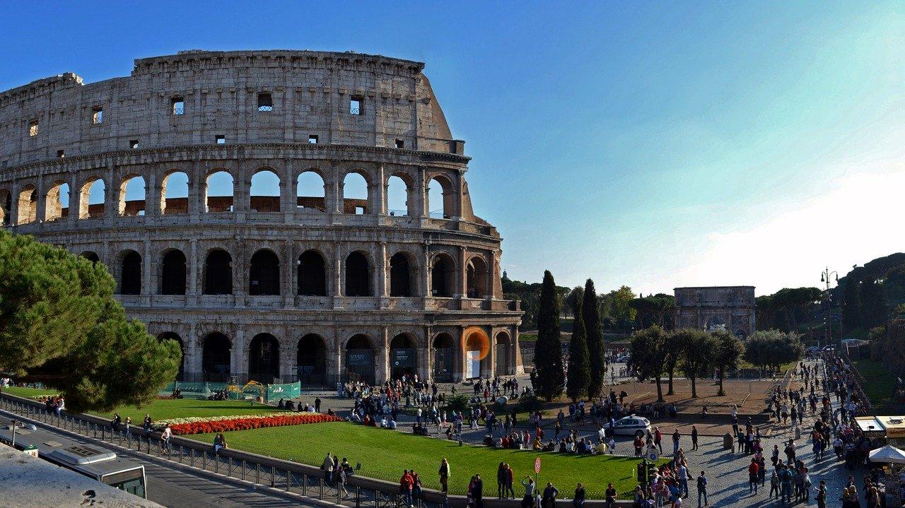 Visitar o Coliseu em Roma com crianças