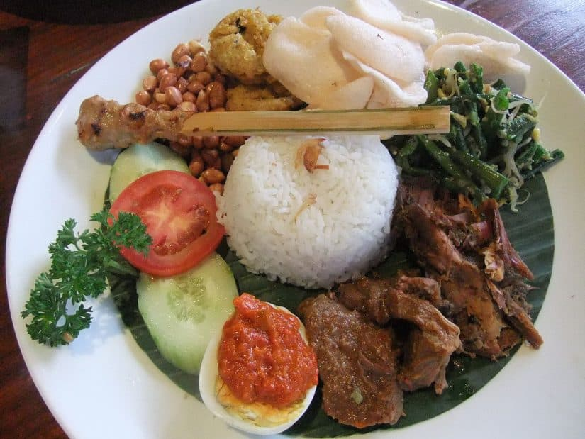 Pratos típicos de Bali