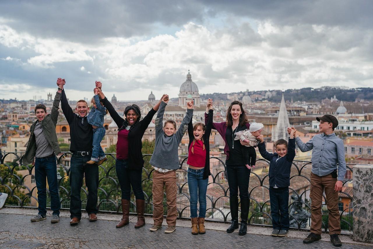 Roma com família