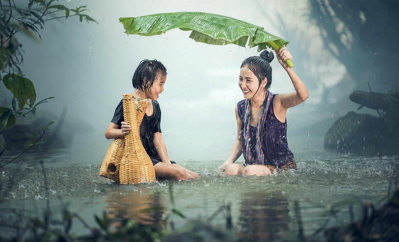 estação chuvosa no Camboja