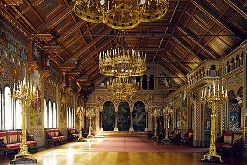 Castelo de Neuschwanstein sala do castelo