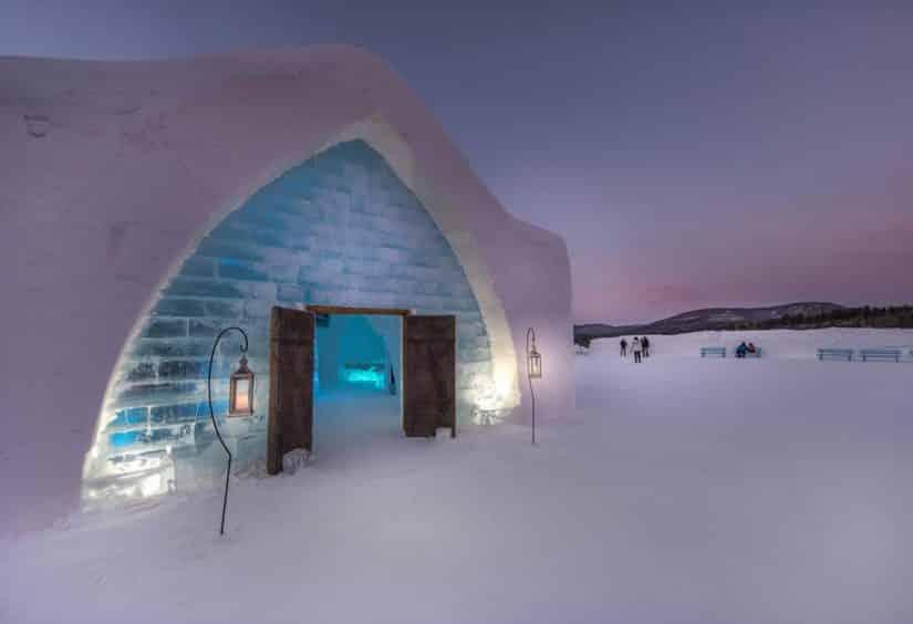 hotel de gelo canadá