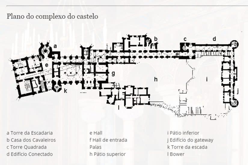 mapa do Castelo de Neuschwanstein