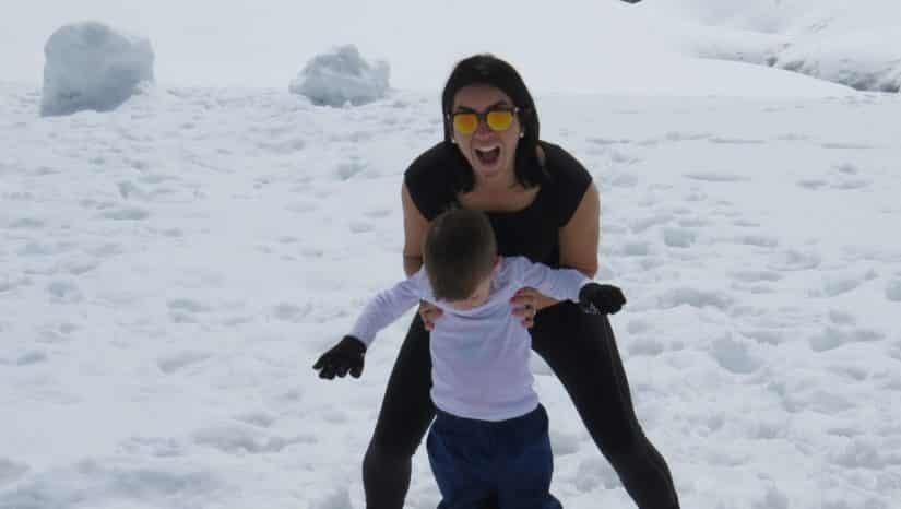 viagem em familia neve
