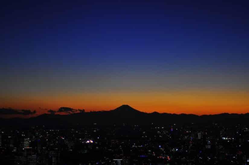 noite monte fuji