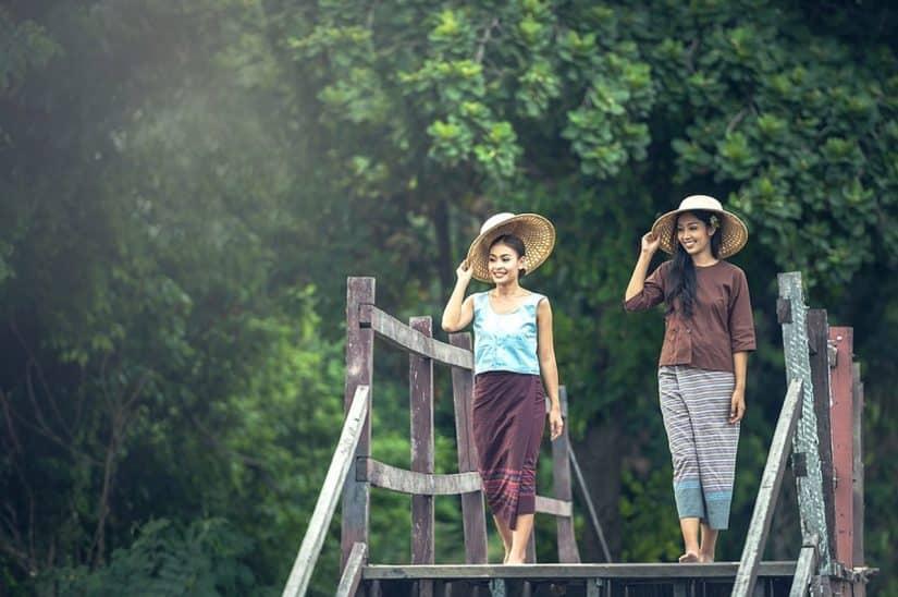 como se vestir em camboja