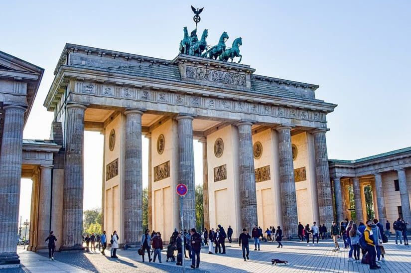 Mapa de Berlim com pontos turísticos