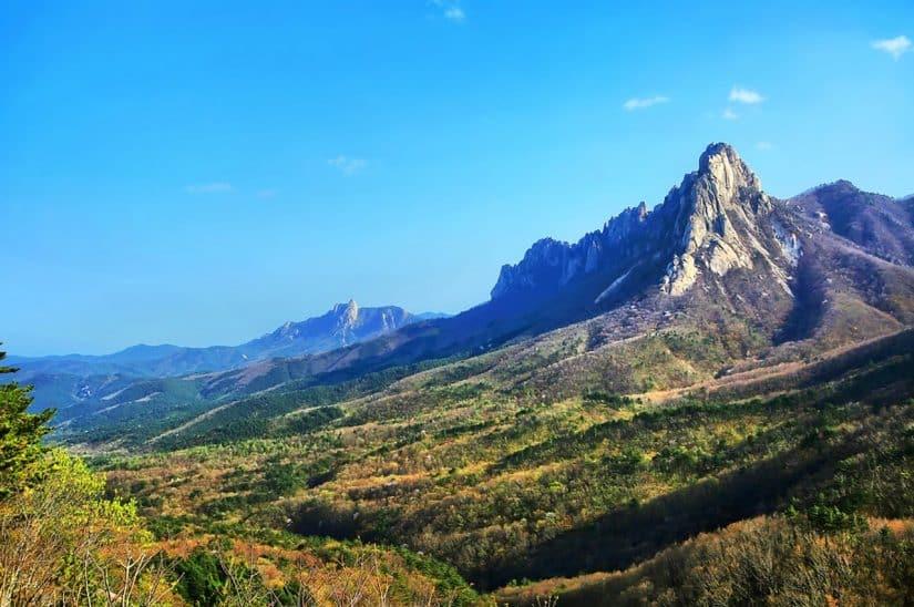 montanha coreia do sul