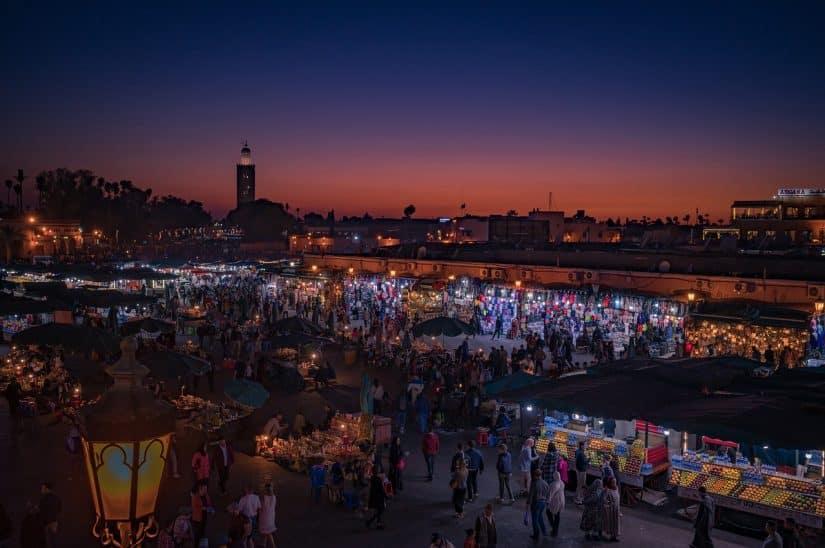 ruas de marrakech