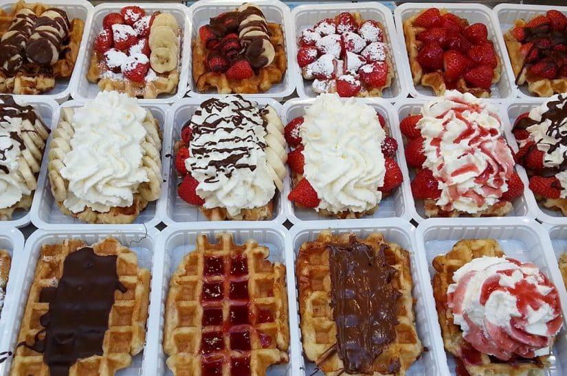 waffle na bélgica