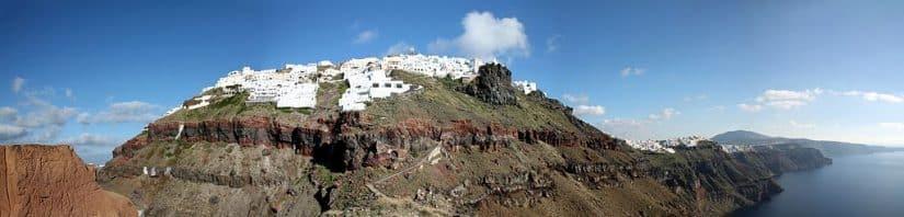 Imerovigli em Santorini