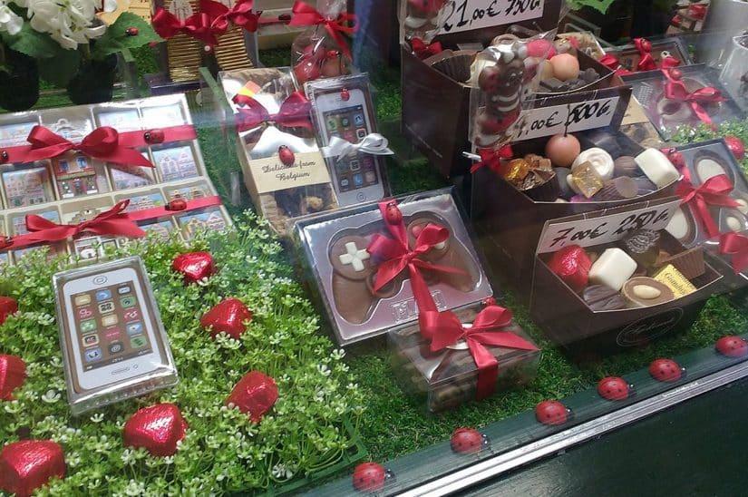 loja de chocolate em Bruges