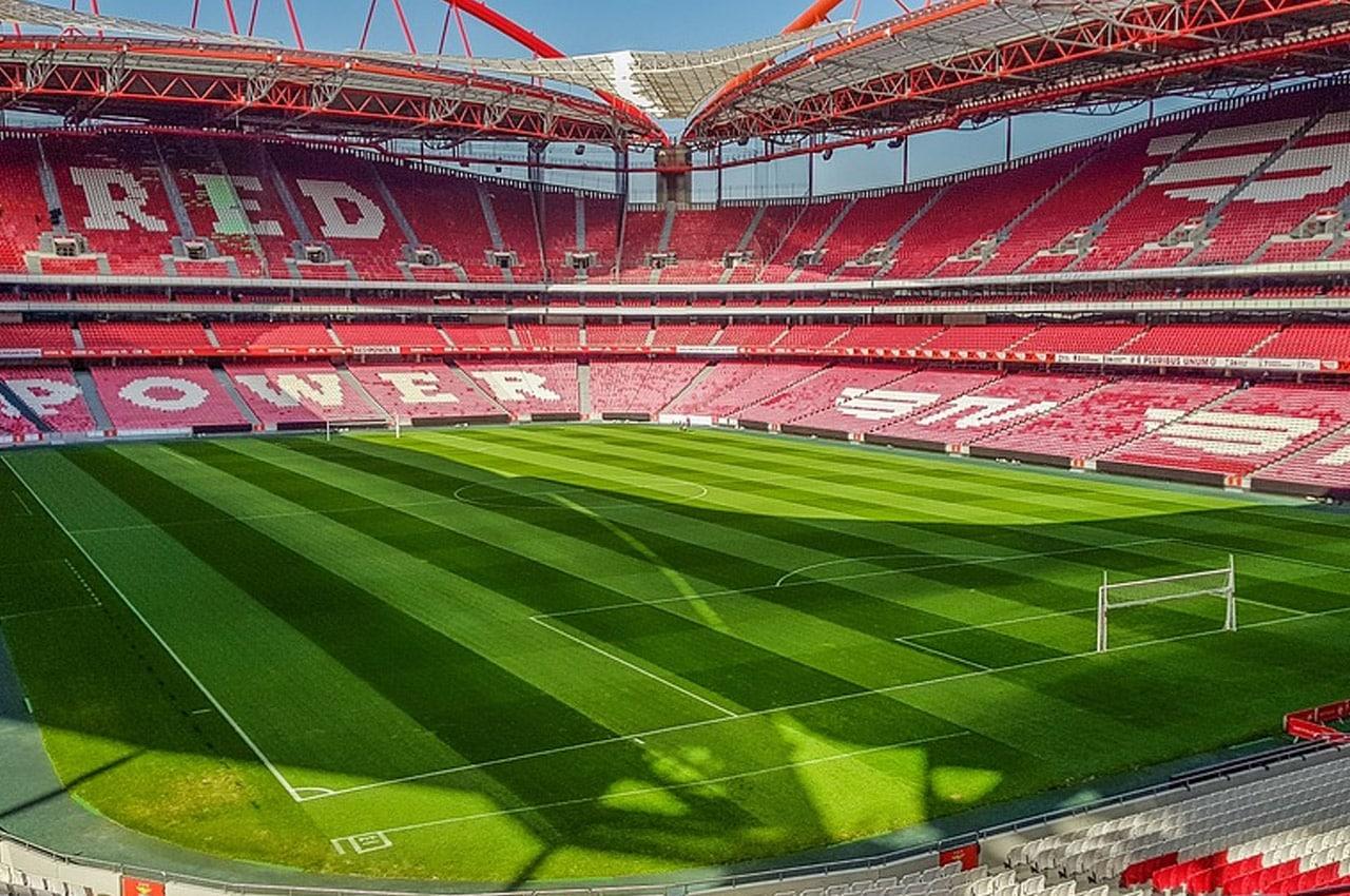 Jogo da Champions League no Estádio da Luz