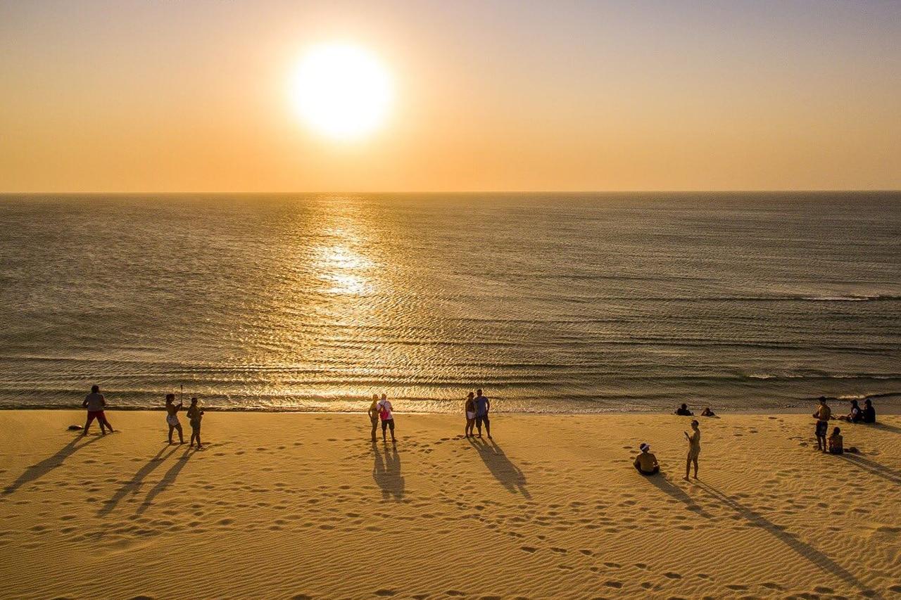 Pôr do sol nas praias de Jericoacoara