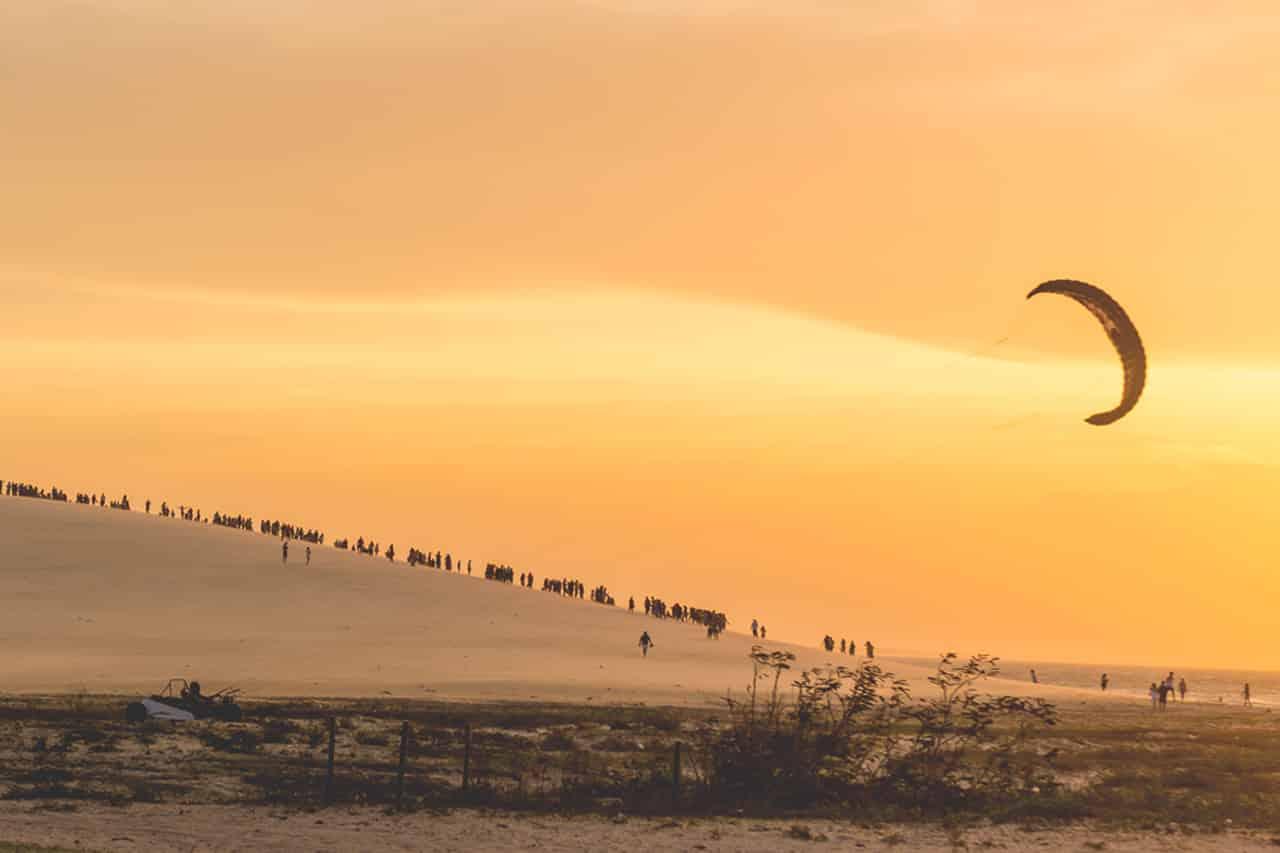 Pôr do sol nas dunas de Jericoacoara