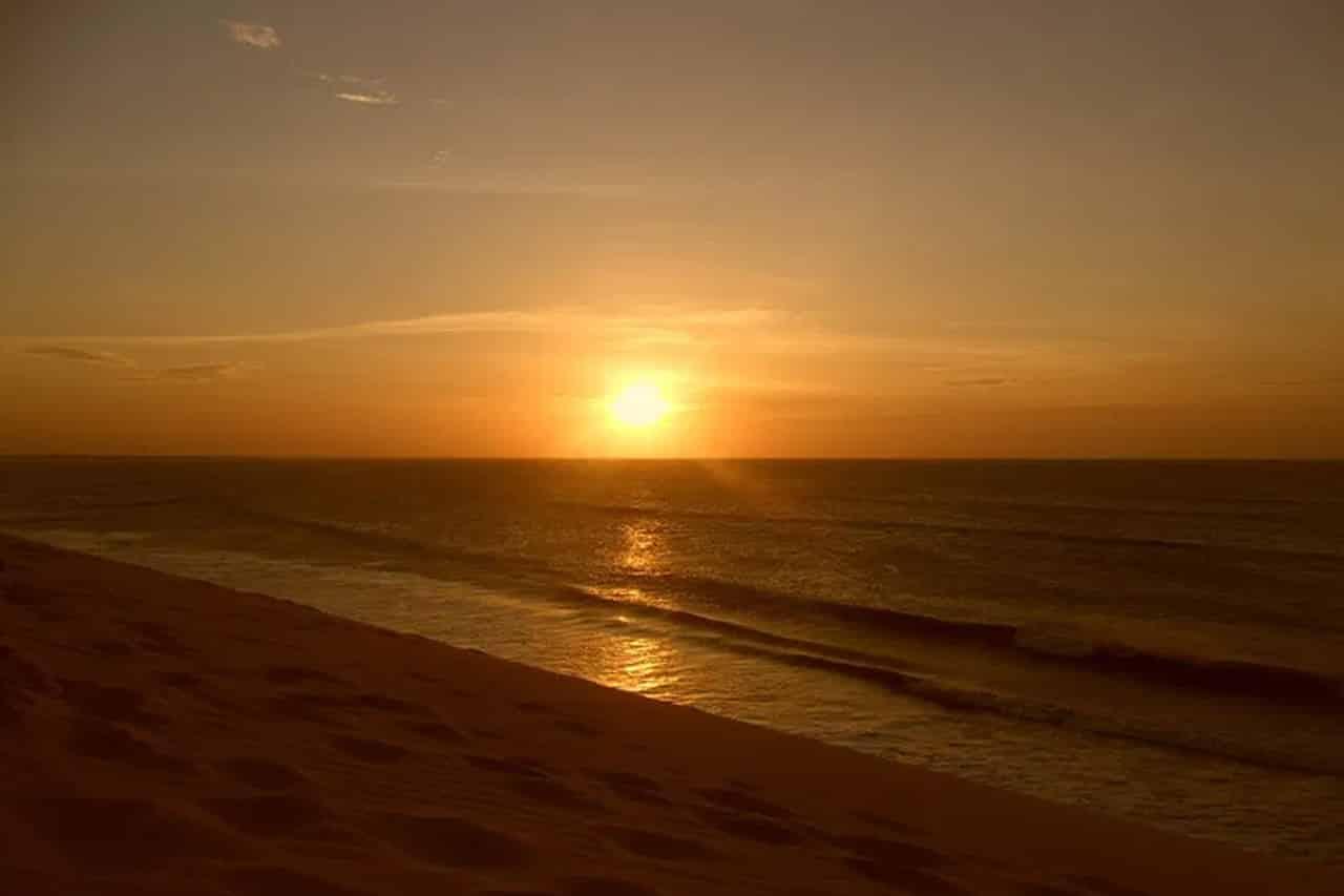 Fotos de pôr do sol em Jericoacoara