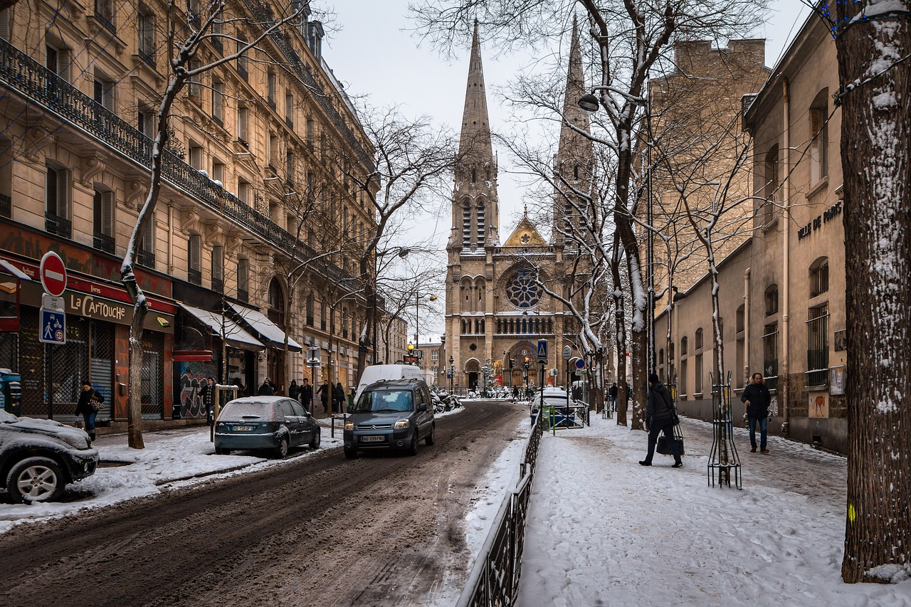 Neve na França.