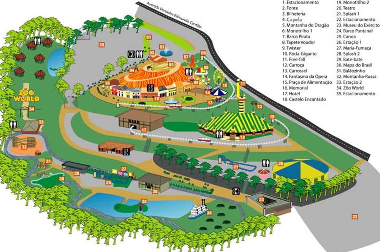 poços de caldas parque walter world