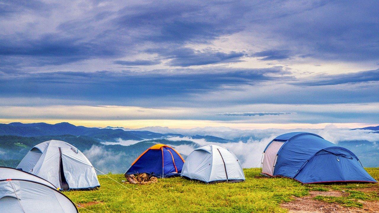 historia de acampar