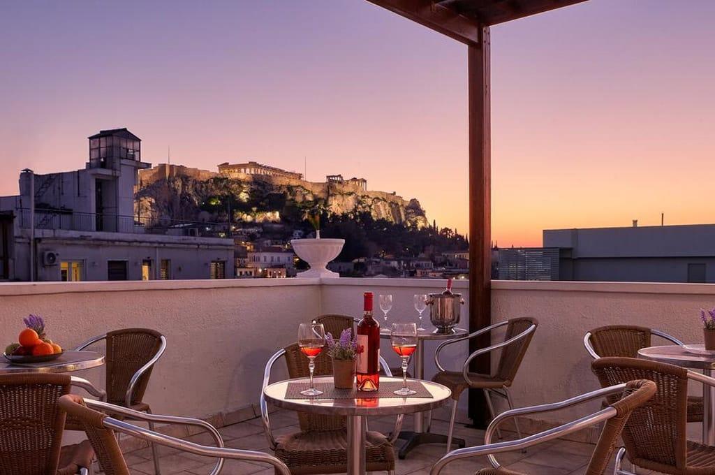 Melhores hotéis perto da acropole