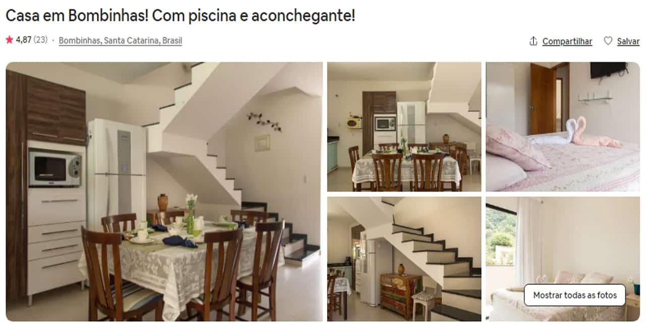 Airbnb Bombinhas quarto