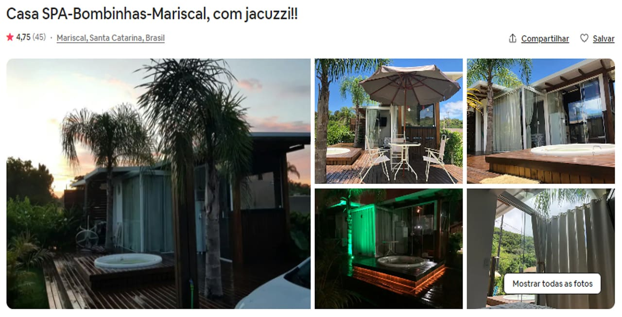 Airbnb Bombinhas canto grande