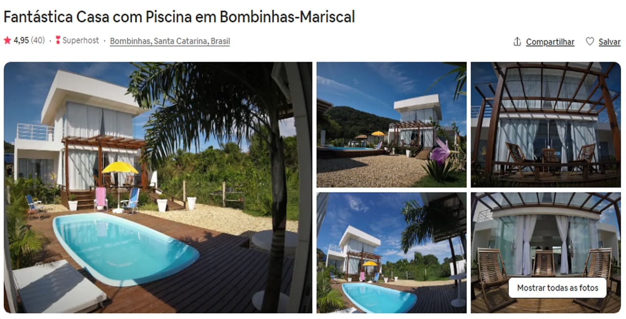 Airbnb Bombinhas perto da mata