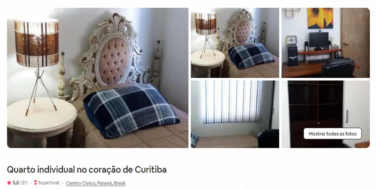 Airbnb Curitiba bem localizado