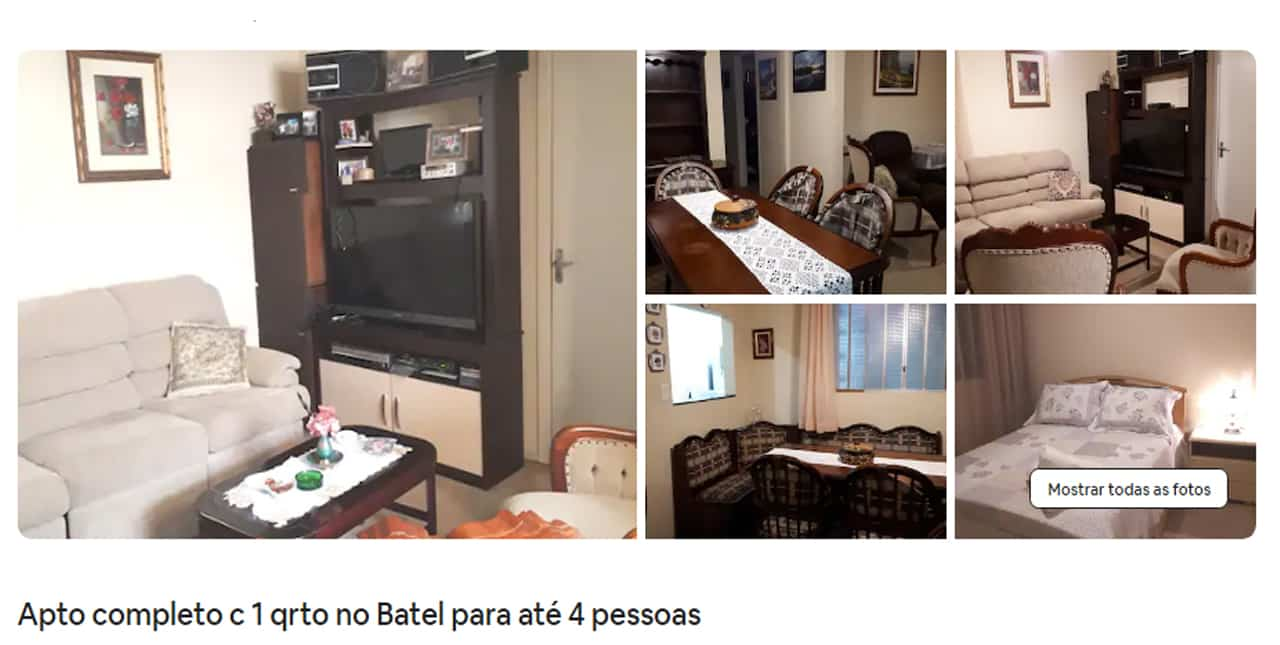 Airbnb Curitiba mensal