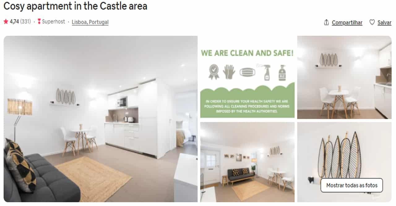 Airbnb Lisboa castelo de são jorge
