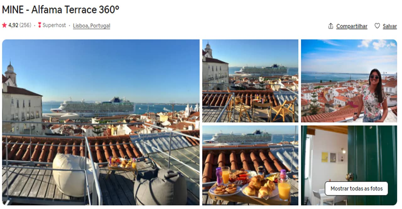 Airbnb Lisboa luxuosos