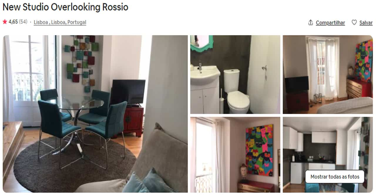 Airbnb Lisboa rio tejo