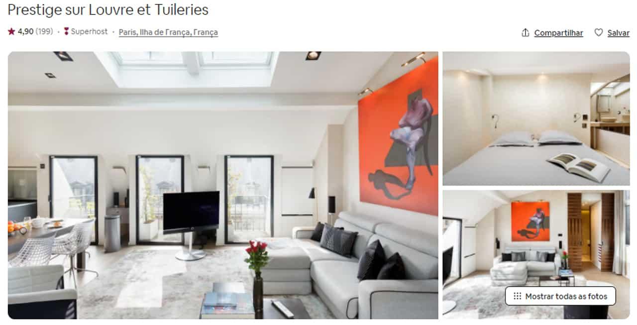 Airbnb Paris museu do louvre