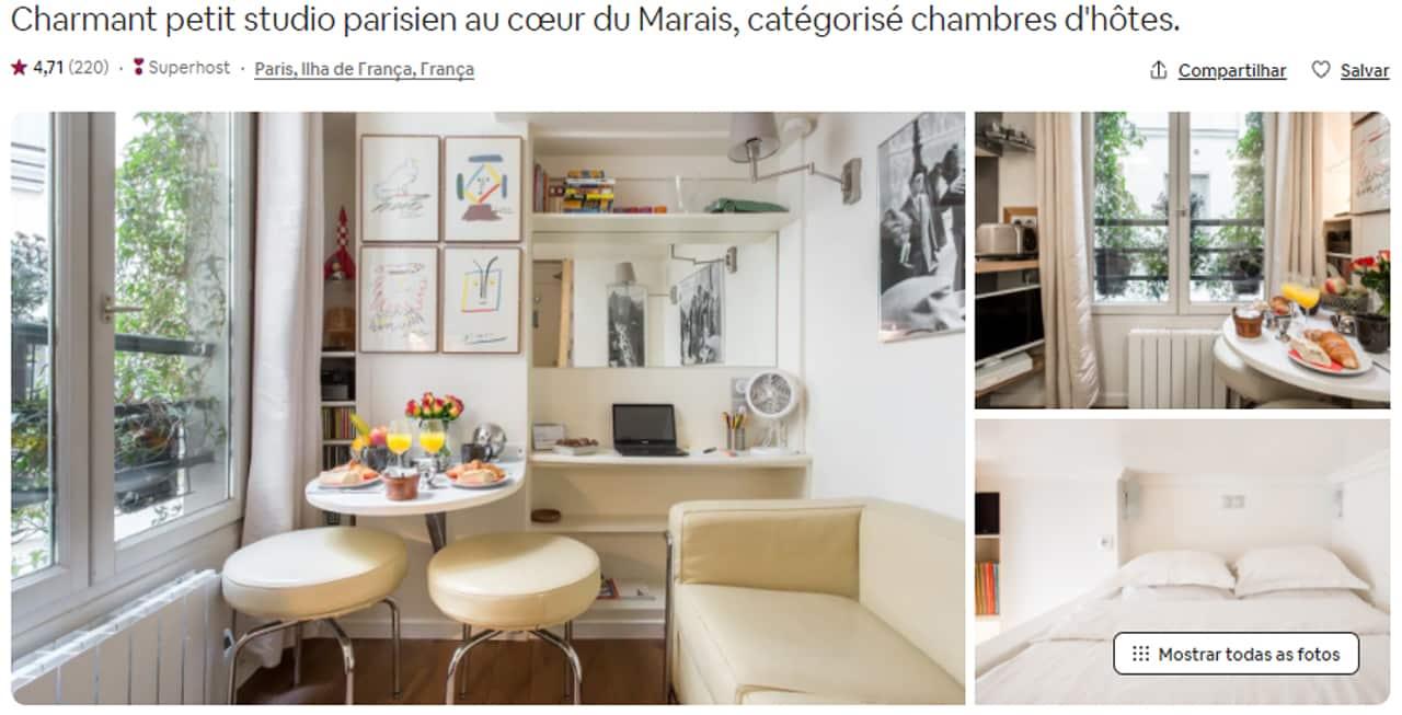 Airbnb Paris la marais