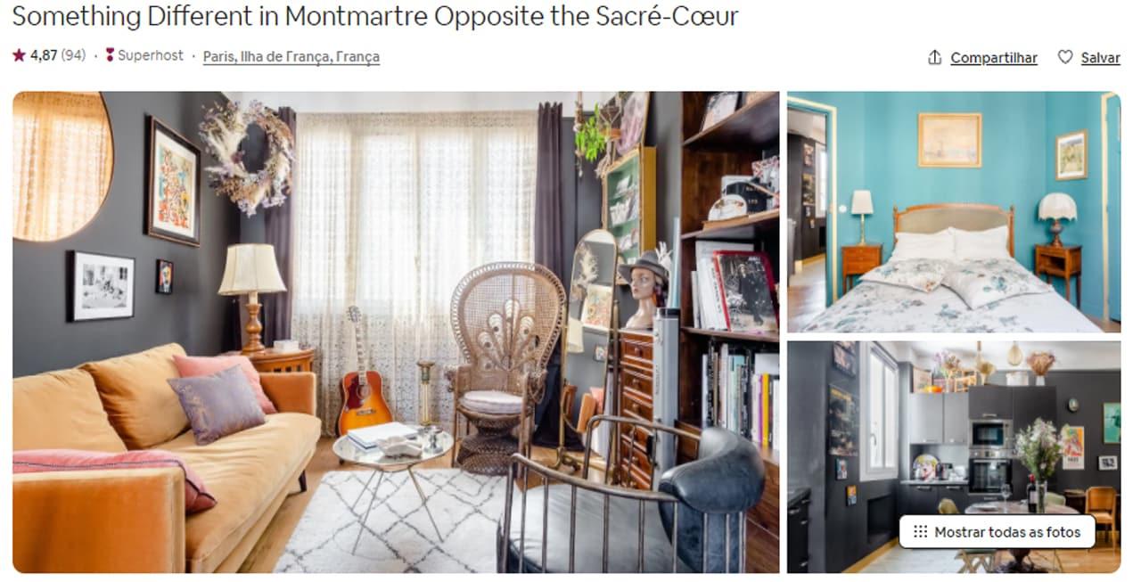 Apartamentos para alugar perto da Sacre Coeur