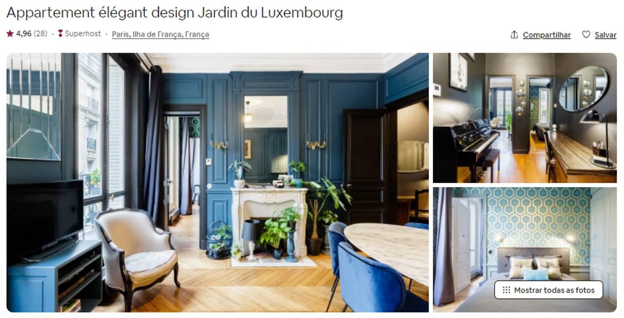 Airbnb Paris jardim de luxemburgo