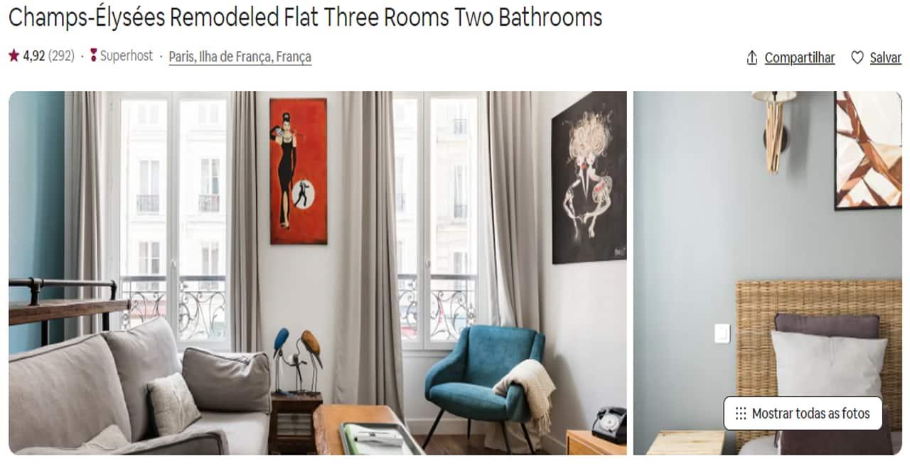 Airbnb Paris arco do triunfo