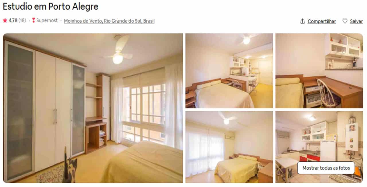 Airbnb Porto Alegre tristeza