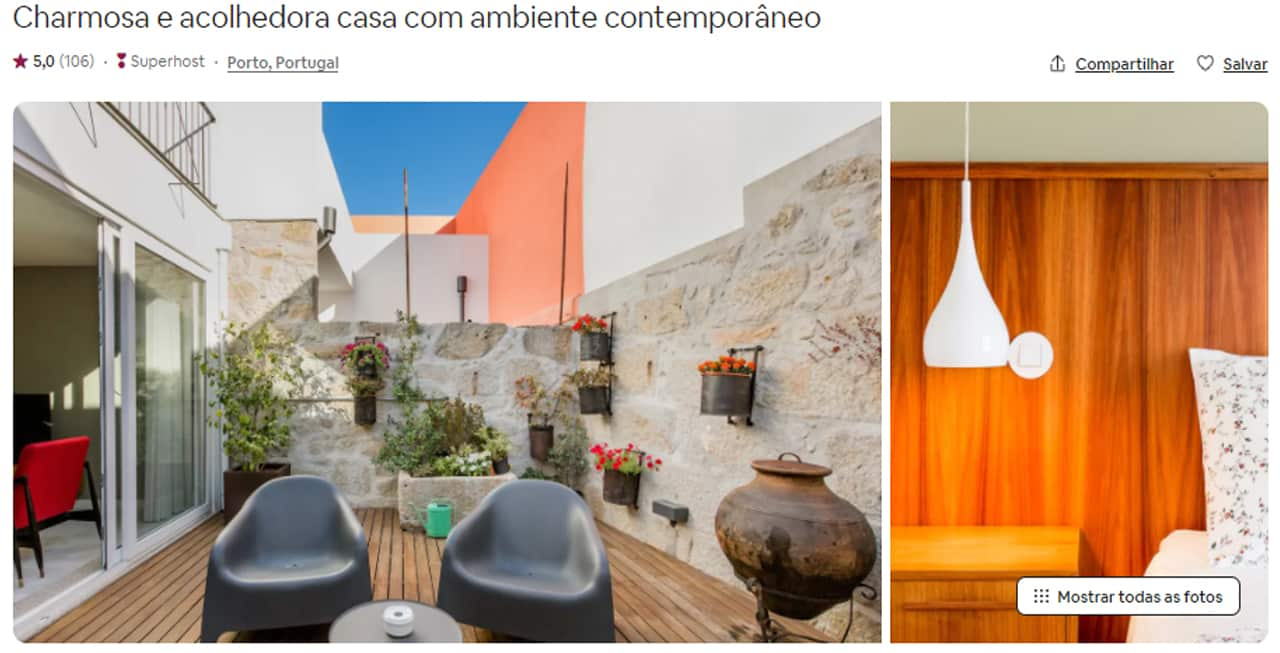 hospedagem em Porto