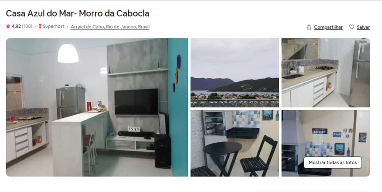 airbnb no estado do rio de janeiro