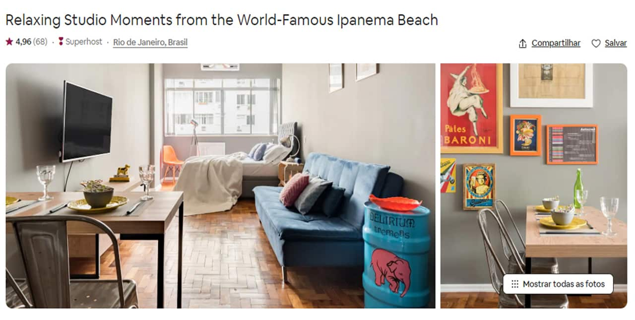 Airbnb Rio de Janeiro copacabana