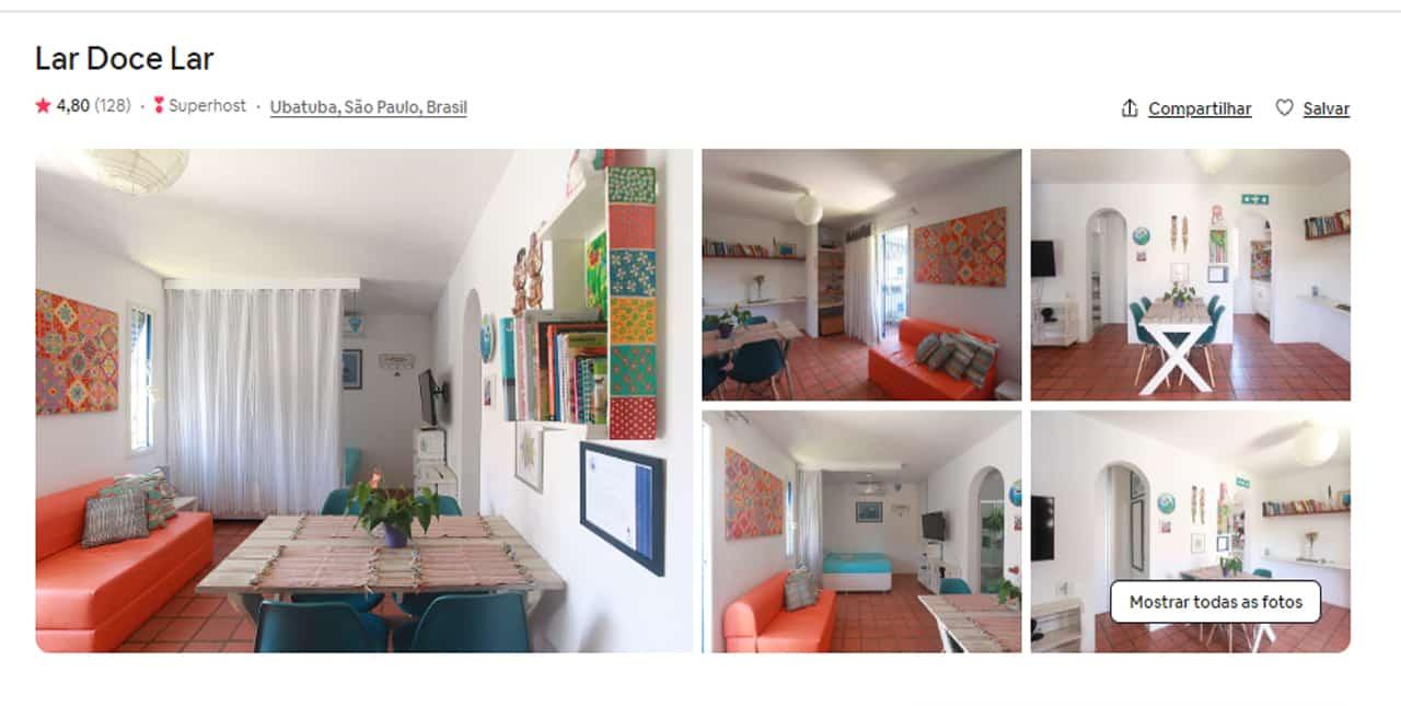 Airbnb Ubatuba saco da ribeira