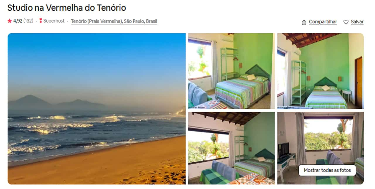 Airbnb Ubatuba apartamento