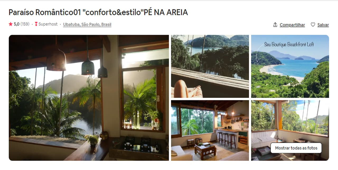 Airbnb Ubatuba barco