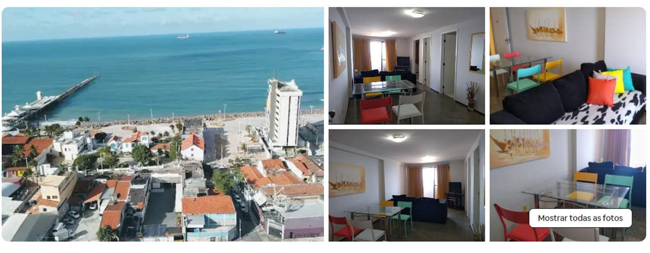 airbnb Fortaleza praia de Iracema