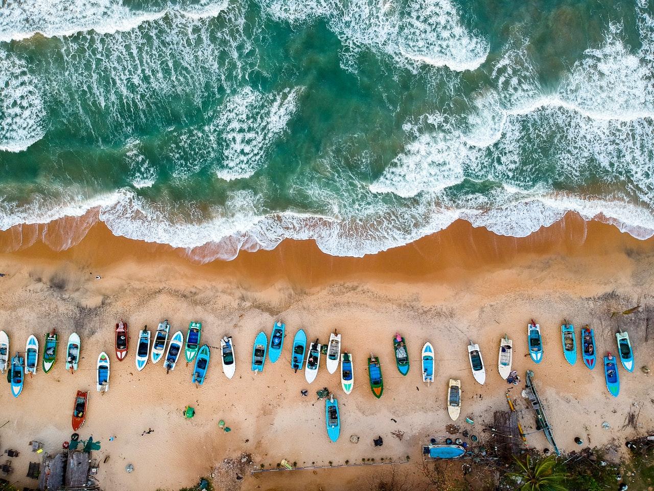 Fotos com drone na praia