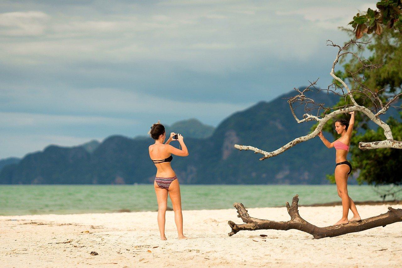 fotos divertidas na praia