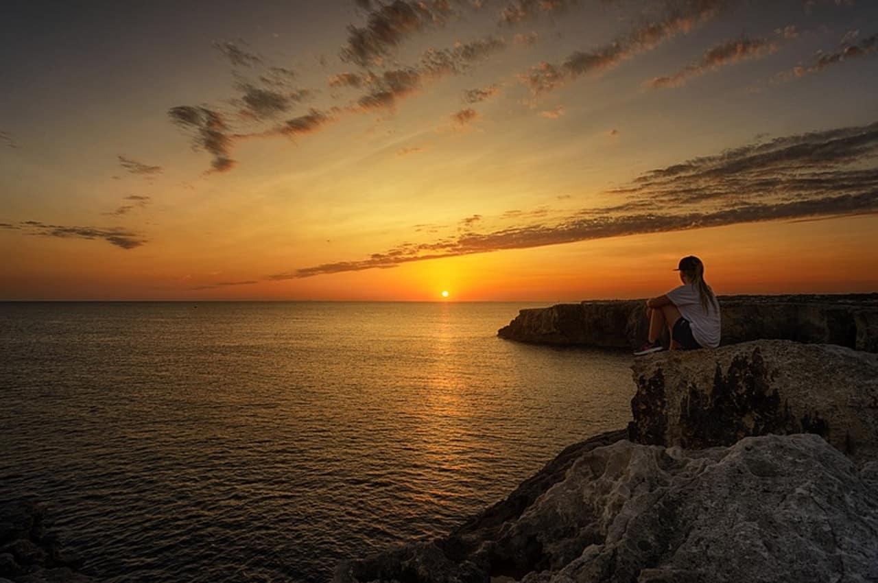 fotos de paisagens naturais por do sol em menorca