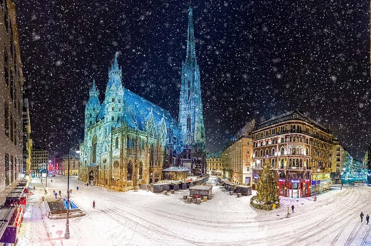 fotos de paisagens naturais Viena inverno