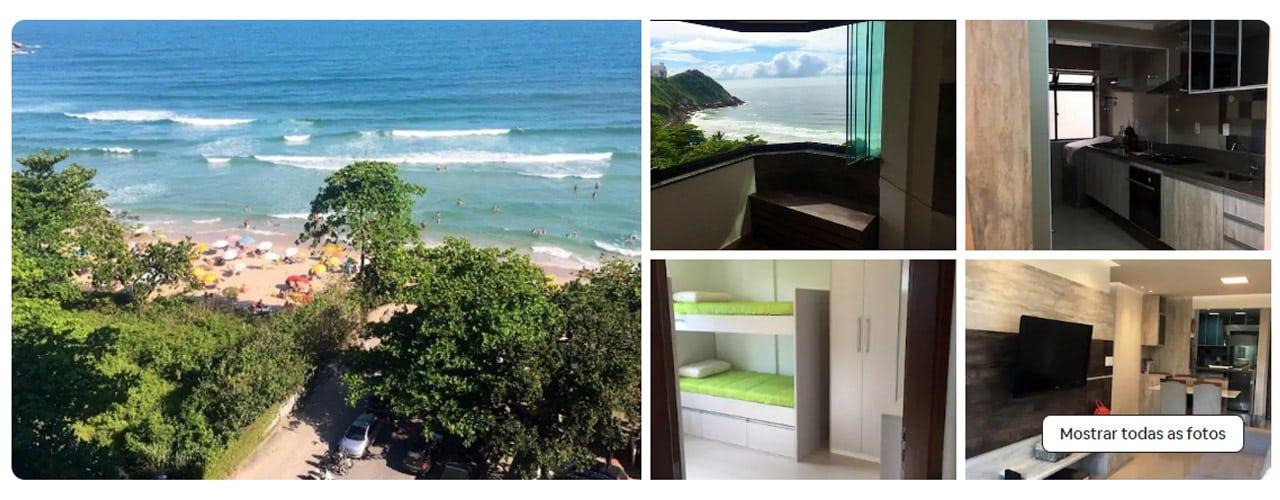 apartamento na praia do tombo airbnb